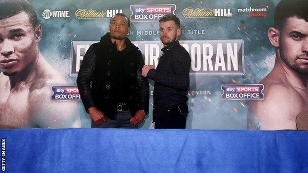 Eubank, 26, has one defeat on his record while Doran, 28, is unbeaten