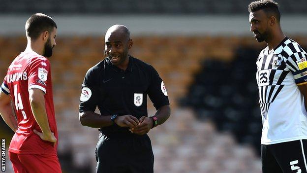 Sam Allison was referee for Port Vale's win over Crawley last Saturday