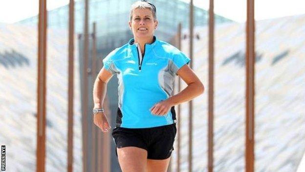 Hannah Shields running in Belfast