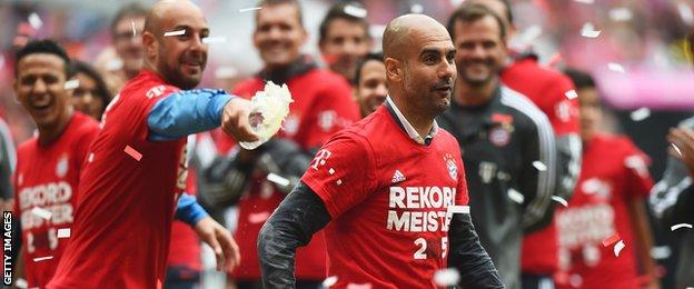 Pep Guardiola of Bayern Munich