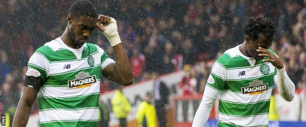 It wasn't the best of afternoons for Celtic pair Tyler Blackett and Efe Ambrose