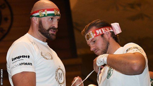 Tyson Fury and his trainer Ben Davison