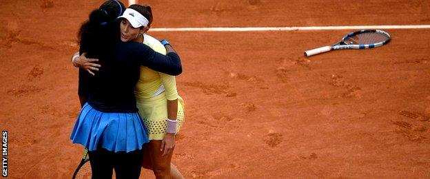 Serena Williams and Garbine Muguruza