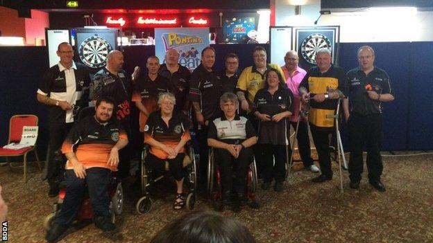 British Disabled Darts Association players