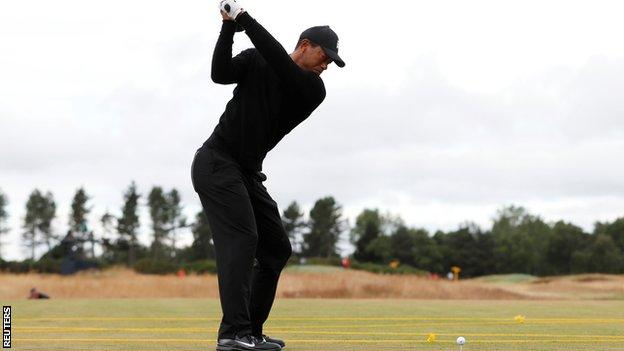 Tiger Woods at Carnoustie