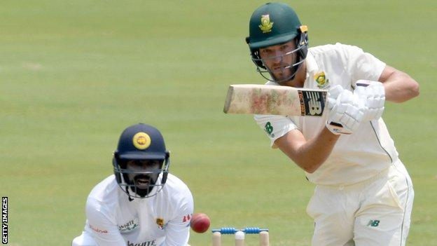Wiaan Mulder in action for South Africa