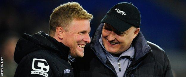 Eddie Howe and Russell Slade