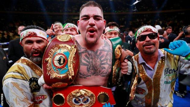 Ruiz now holds three of the four major world heavyweight titles