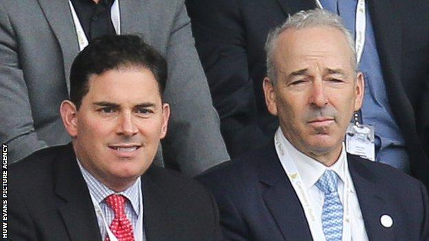 Americans Jason Levien (L) and Steve Kaplan led the consortium that took over Swansea in 2016