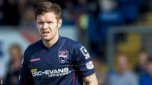 Darren Barr in action for Ross County