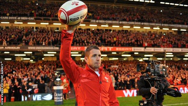 Shane Williams won the last of his 87 Wales caps in 2011