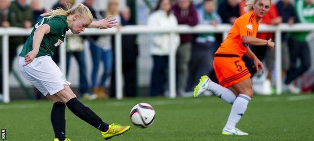 Heather Richards scored from the halfway line in the League Cup final against Glasgow City