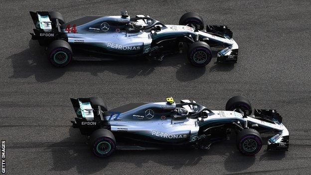 Lewis Hamilton and Valterri Bottas