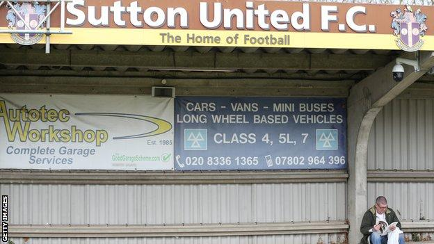 Sutton United's Gander Green Lane