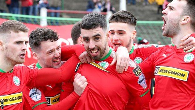Cliftonville scored four goals in the first half at the Oval