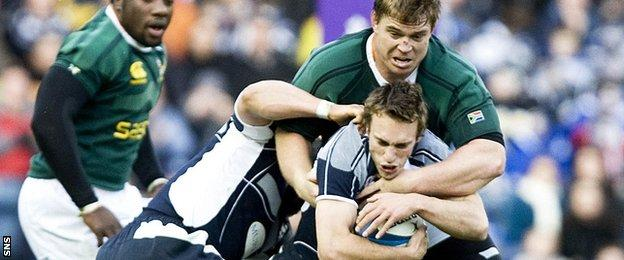 Mike Blair in action for Scotland against Ireland