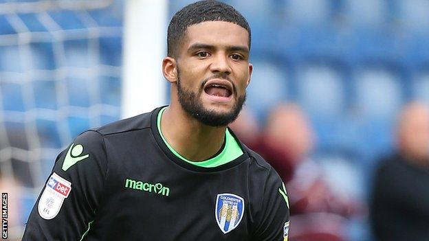 Dillon Barnes in action for Colchester United
