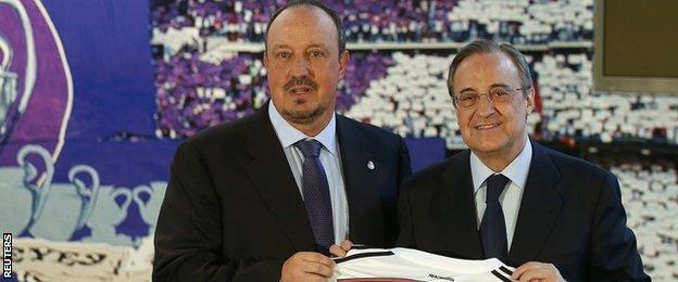 Rafa Benitez and Florentino Perez