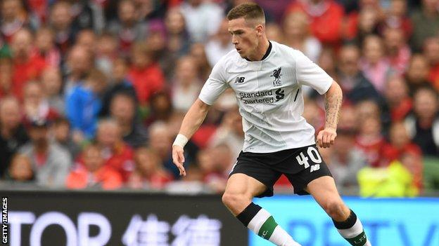 Ryan Kent in action during a pre-season friendly for Liverpool against Atletico Bilbao, 2017