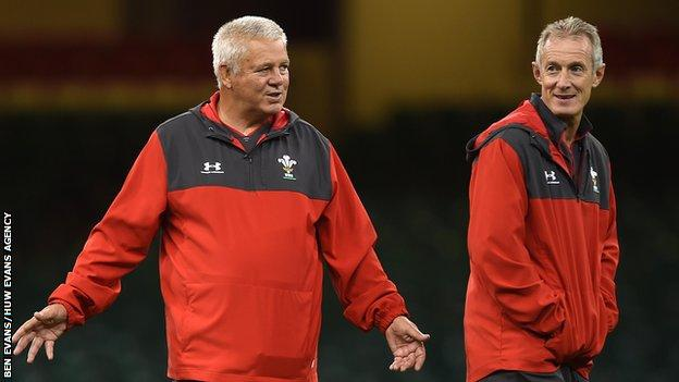 Rob Howley (R) was one of Wales boss Warren Gatland's first coaching appointments