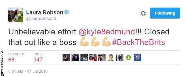Laura Robson tweet