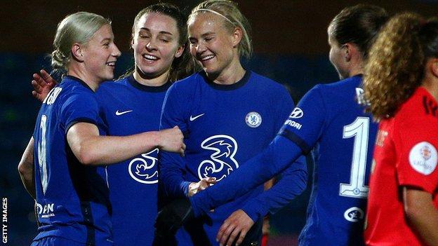 Chelsea Women beat Benfica in Champions League last 32