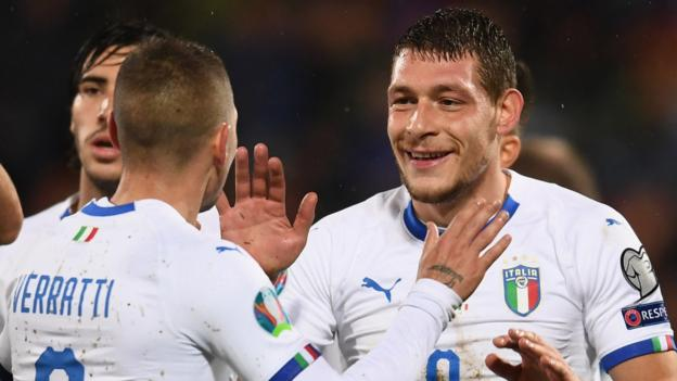 Liechtenstein 0-5 Italy: Roberto Mancini's side ease to victory thumbnail