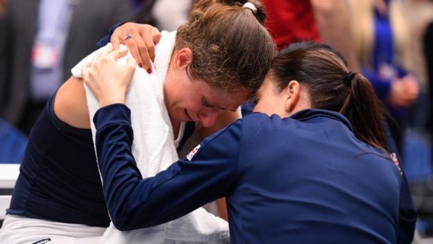 Fed Cup: Johanna Konta felt 'light-headed' & was given option to retire in GB win thumbnail