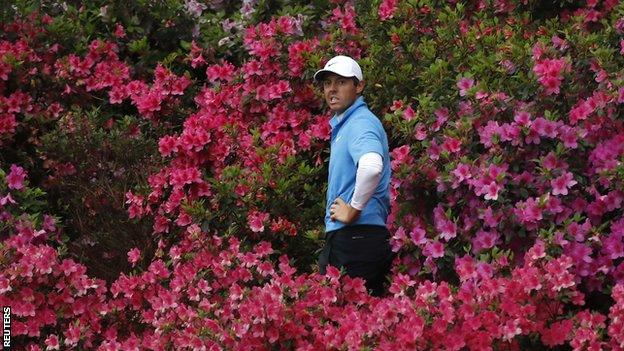 Rory McIlroy at the 13th