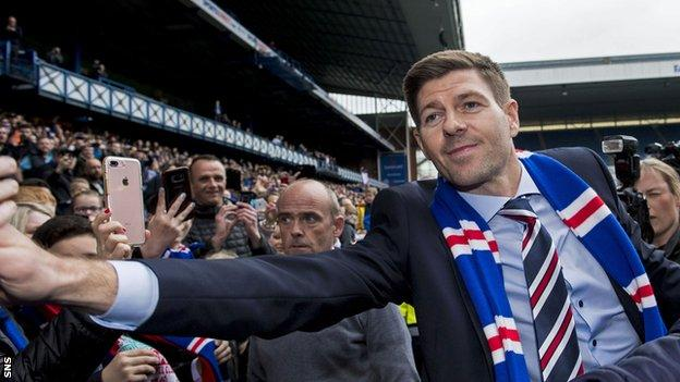 Unveiled by Steven Gerrard in Ibrox