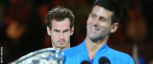 Murray has lost to Djokovic in the Australian Open final three times