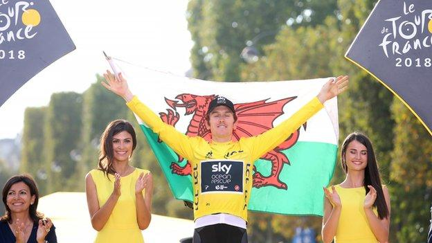 The 34-year-old became the first Welshman to win the Tour de France in 2018.