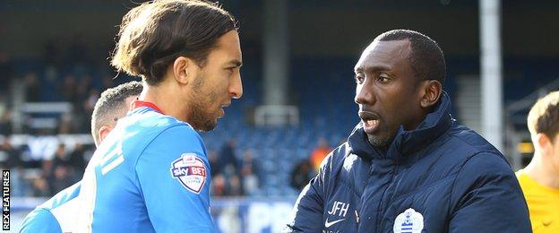 Nasser El Khayati and Jimmy Floyd Hasselbaink