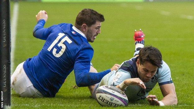 Sean Maitland scored two tries in Scotland's Six Nations win against France in February, and returns to the bench
