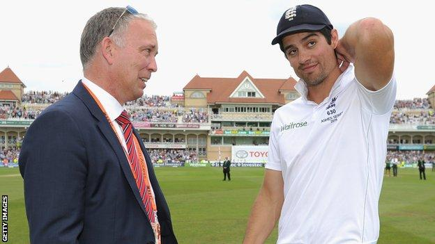 James Whitaker and Alastair Cook