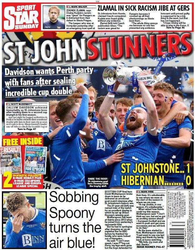 Skotská Daily Star pozadí strana 230521