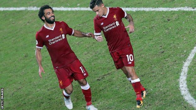 Mohamed Salah and Philippe Coutinho