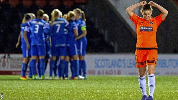 Eskilstuna United celebrate against Glasgow City