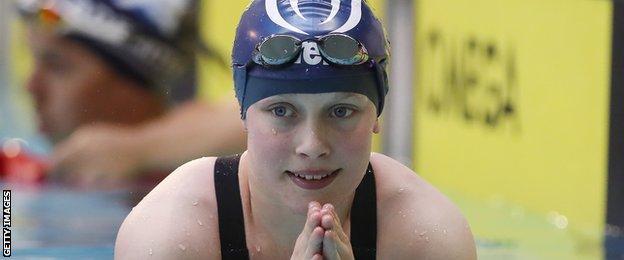 Swimmer Ellie Robinson