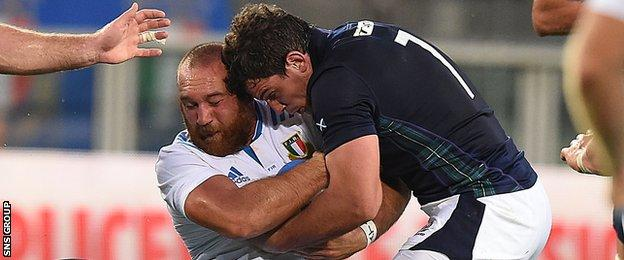 John Hardie showed up well on his Scotland debut