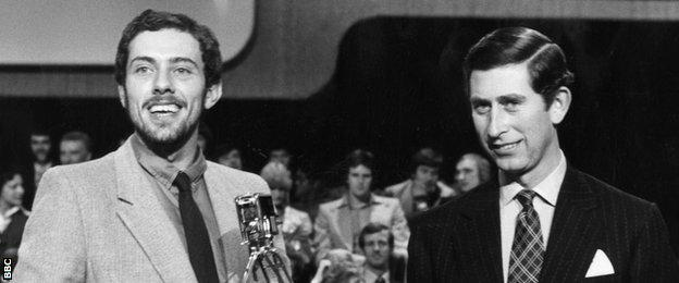 Steve Ovett recieved the 1978 ports Personality of the Year award from Prince Charles