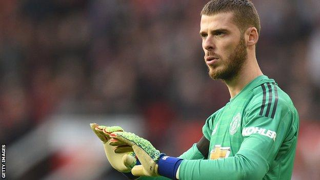 Manchester United keeper David de Gea kept a clean sheet against Liverpool on Sunday