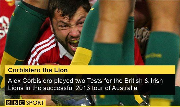 Alex Corbisiero scores a try for the Lions against Australia