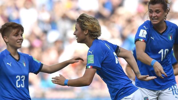Women's World Cup 2019: Italy beat China 2-0 to seal quarter-final place thumbnail