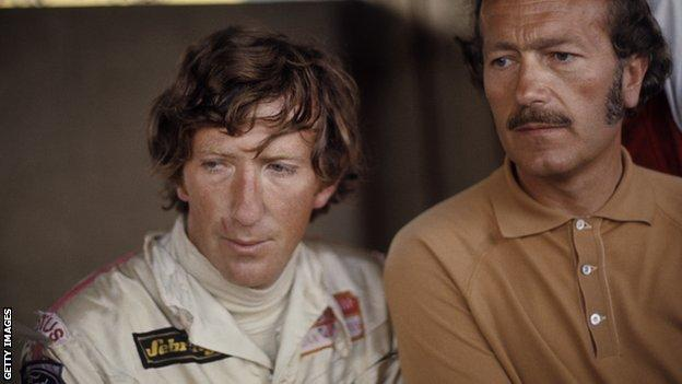 Jochen Rindt, Colin Chapman, Grand Prix of Italy, Monza, 06 September 1970. Jochen Rindt and Lotus designer and owner Colin Chapman on that fateful day when he lost his life.