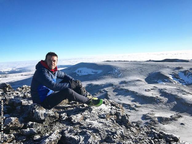 Jolyon Palmer Kilimanjaro summit