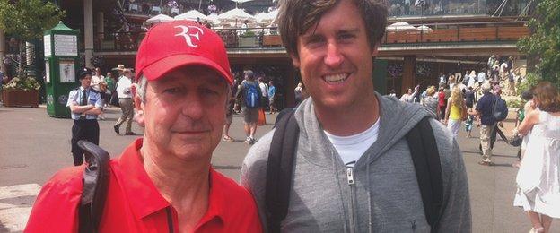 Trevor Smith with nephew David Tuck