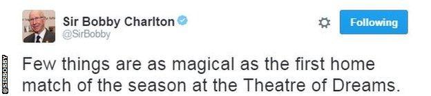 Sir Bobby Charlton Twitter