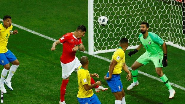 Zuber headed Brazil level early in the second half