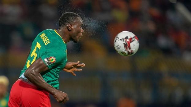 Michael Ngadeu-Ngadjui headed home Cameroon's second against Malawi